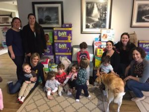 Chapter with diaper bank donation